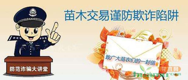 中国花木网提醒您:苗木销售旺季警惕销售骗局!