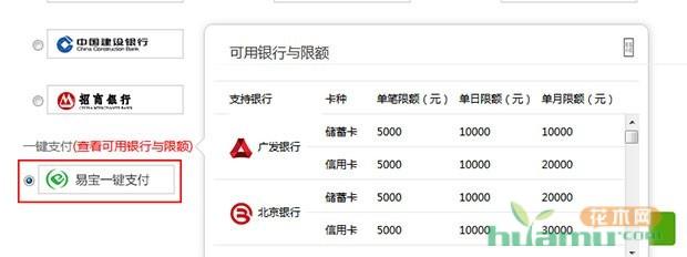 中国花木网充值支付方式调整说明