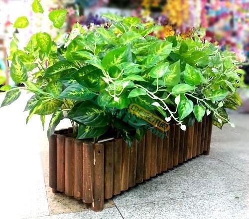 实木碳化花箱户外种植箱