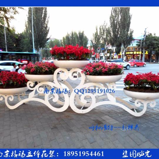 新祥云---欧式立体花架 大型铁艺花架 组合花盆户外景观花箱