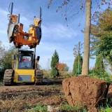 带土球挖树机 树木移植机 配套挖机使用