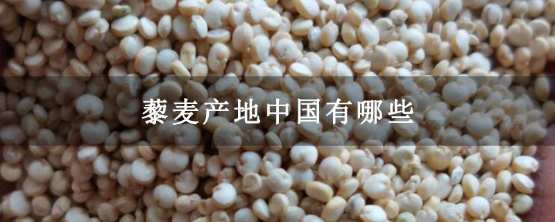 藜麦产地中国有哪些