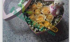 11朵香槟玫瑰同城速递,送花预定