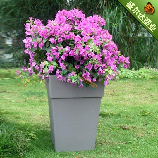 塑料花盆 方形落地大花瓶