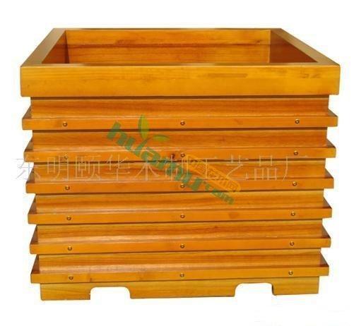 木花盆  木花箱 木制花池