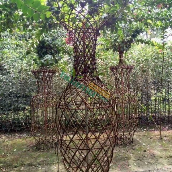 温江紫薇花瓶造型杜鹃花瓶定做