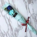 跨境单支玫瑰仿真香皂花肥